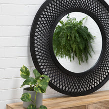 Load image into Gallery viewer, Duke Bamboo Mirror 96.5x2.5x96.5cm Black; ETA Late January