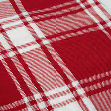 Load image into Gallery viewer, Festive Checks Tea Towel 50x70cm Red/White ETA: Mid October