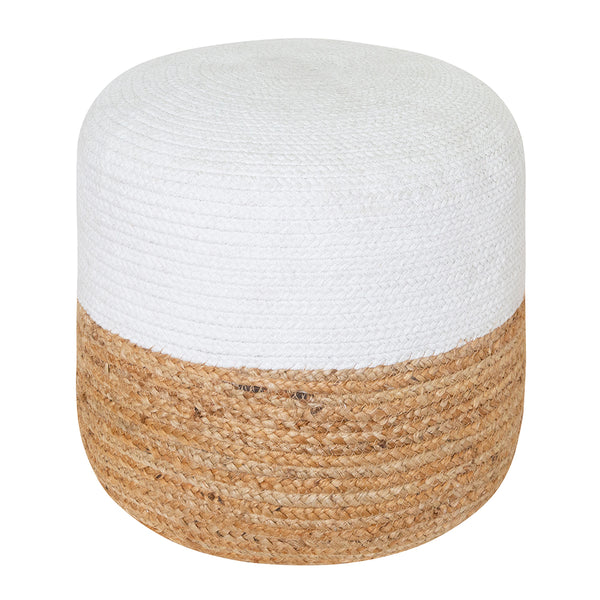 Henri Ottoman 45x45x40cm Natural/White;  ETA Mid December