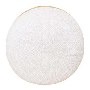 Henri Ottoman 45x45x40cm Natural/White ETA: Late September