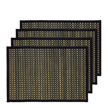 Load image into Gallery viewer, Juno Set of 4 Placemats 33x48cm Black