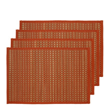 Load image into Gallery viewer, Juno Set of 4 Placemats 33x48cm Bombay Brown