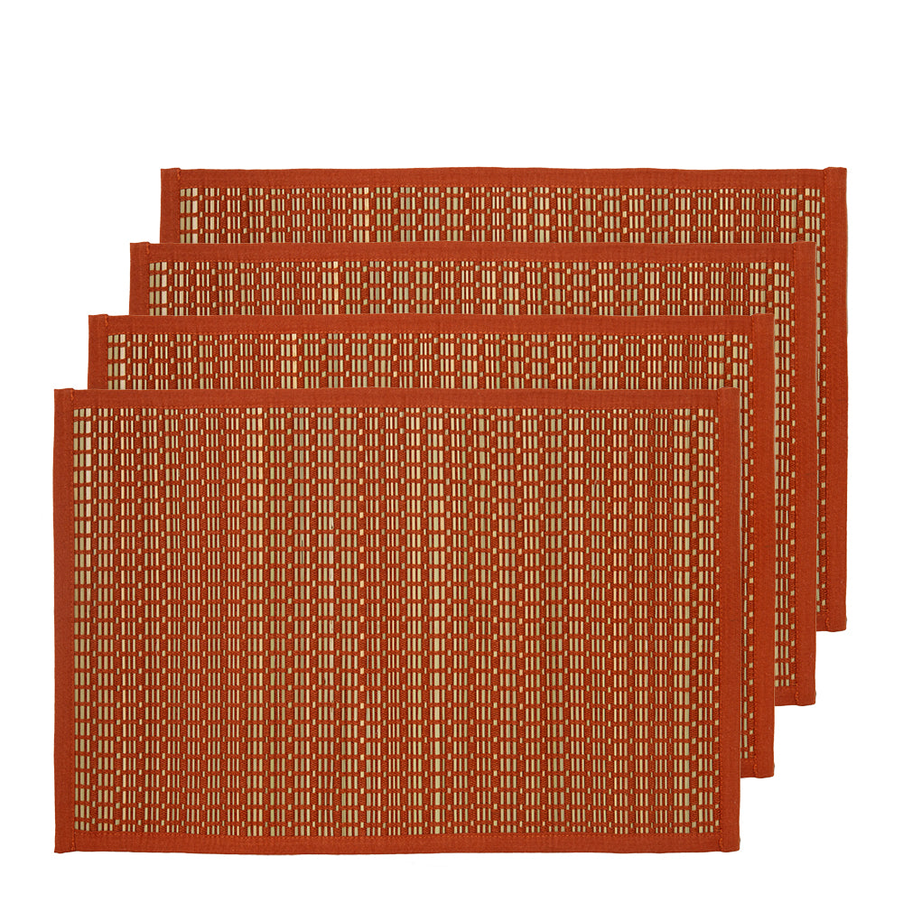 Juno Set of 4 Placemats 33x48cm Bombay Brown