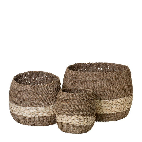 Kenya Set of 3 Baskets Natural