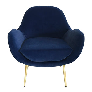 Laura Occasional Chair & Footstool Set Navy