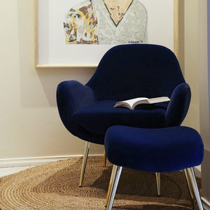 Laura Occasional Chair & Footstool Set Navy; ETA Late November