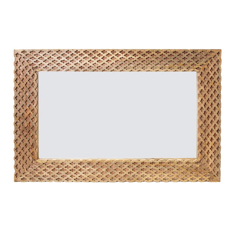 Milena Mirror 90x60x4cm Natural