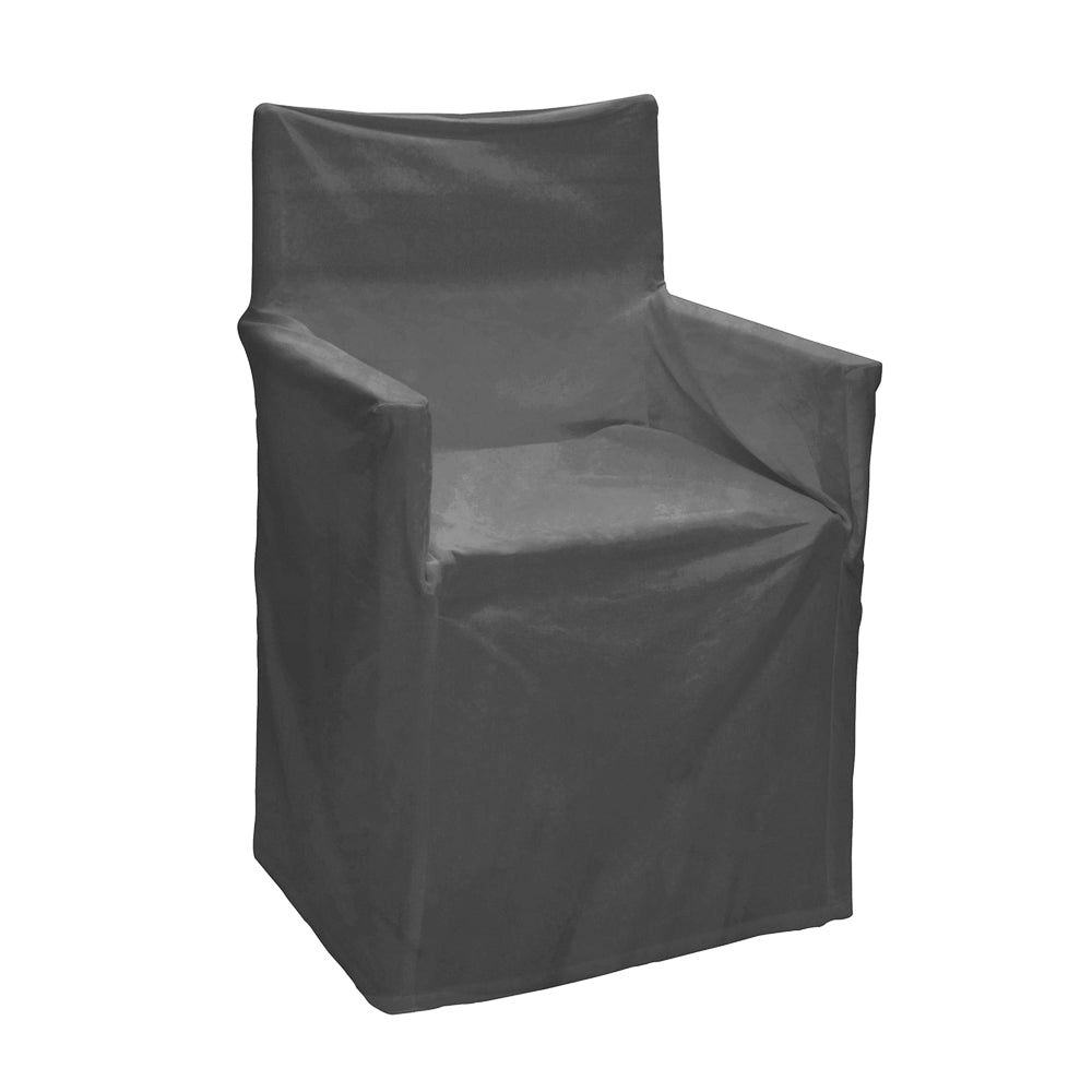 Outdoor Solid Director Chair Cover Std Charcoal