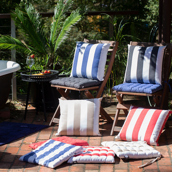 Stripe Chairpad 40x40cm Blue