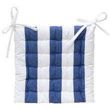 Load image into Gallery viewer, Outdoor Stripe Chair Pad 40x40cm Blue