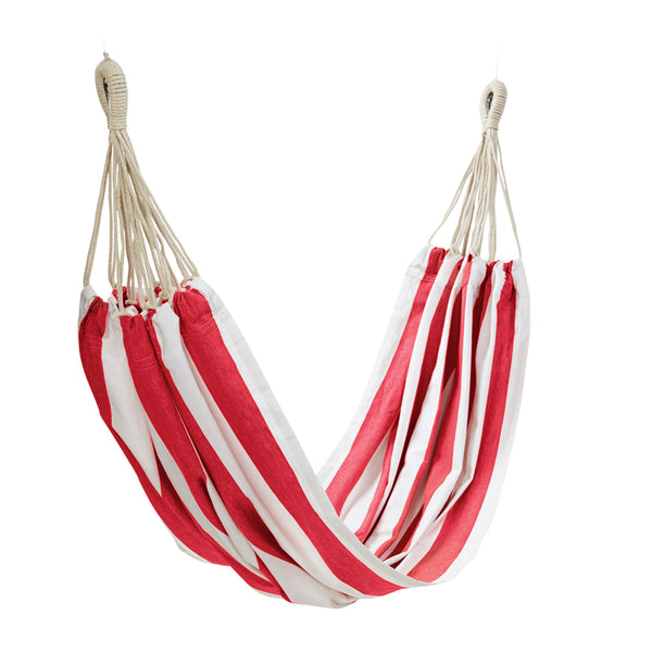 Stripe Hammock 150x205cm Red