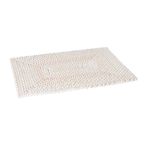 Pacifica Rattan Placemat 45x30cm White Wash