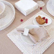 Load image into Gallery viewer, Pacifica Rattan Placemat 45x30cm White Wash
