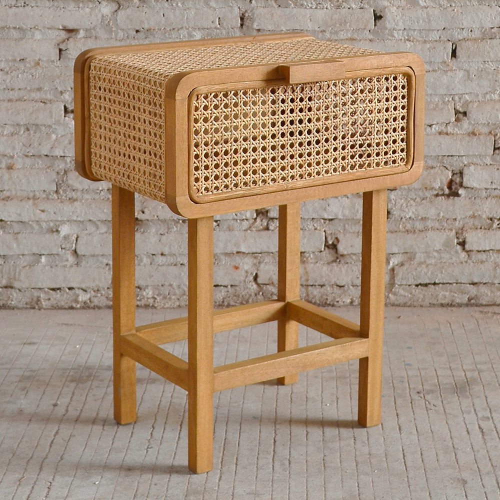 Seabrook Rattan Bedside Table 45x30x60cm; ETA March
