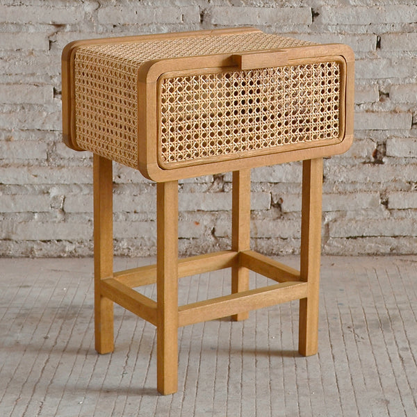 Seabrook Rattan Bedside Table 45x30x60cm
