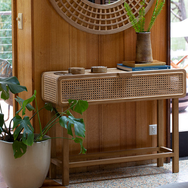Seabrook Rattan Console Table 100x30x75cm