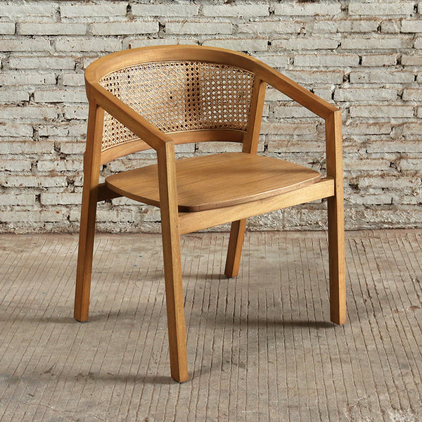 Seabrook Rattan Office Chair 60x53.5x78cm Natural