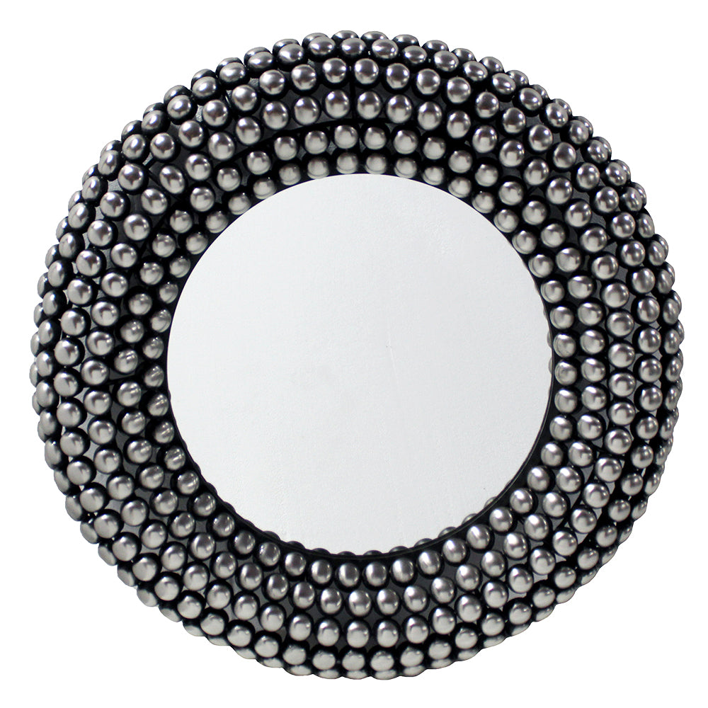 Valentina Mirror 66cm Antique Silver