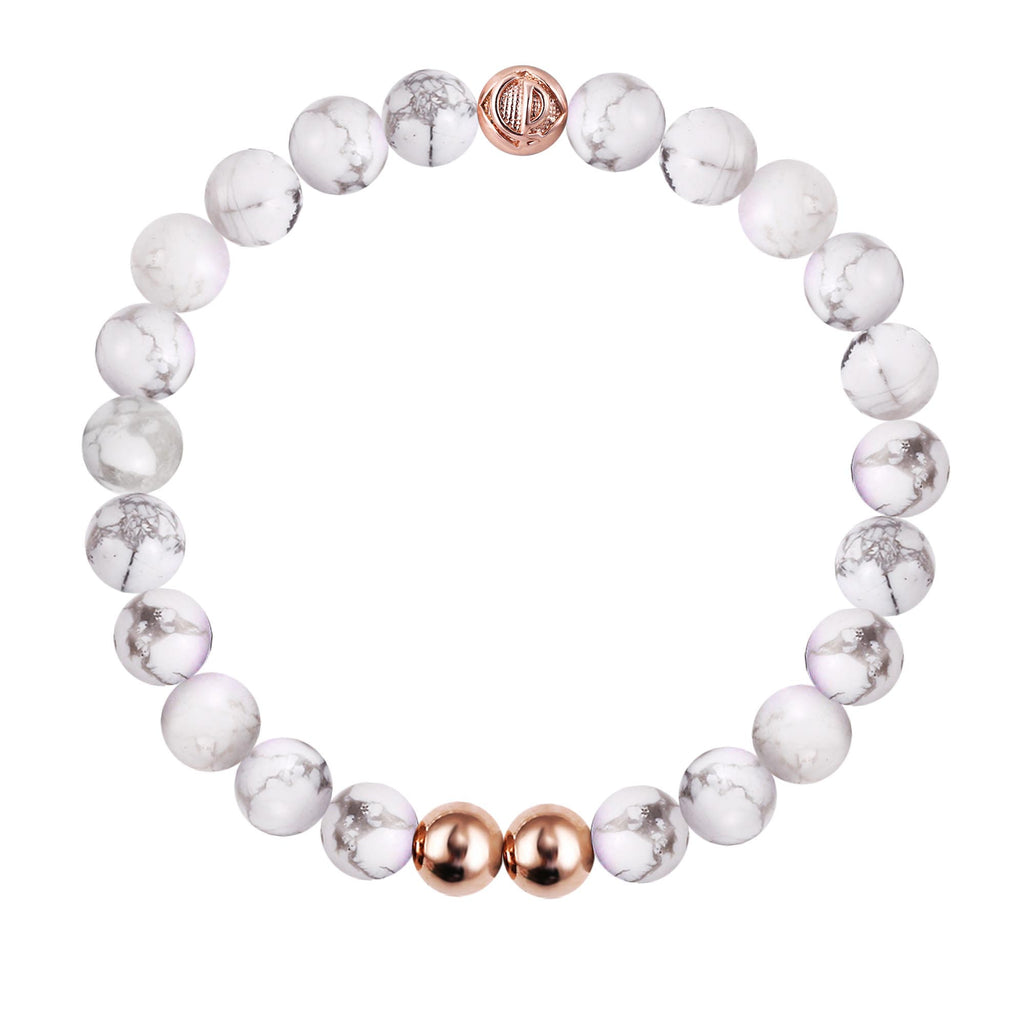 ORIGINAL HOWLITE/ROSE GOLD 25