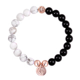 ORIGINAL HOWLITE/BLACK ONYX/ROSE GOLD 23