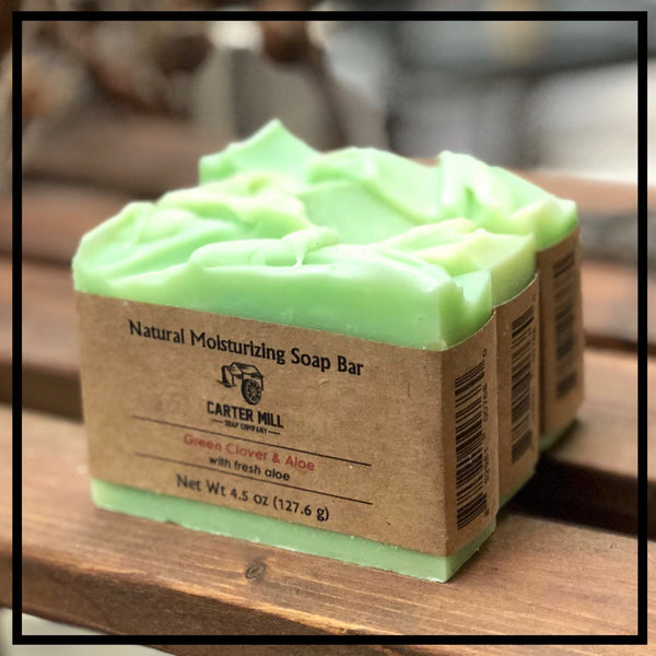 Green Clover and Aloe Soap Bar