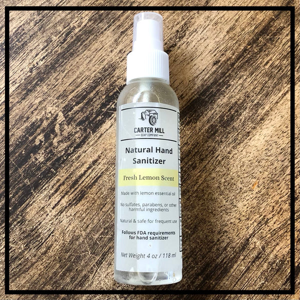 Natural Lemon Hand Sanitizer 4 oz