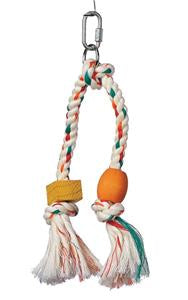 Jungle wood double rope tassle