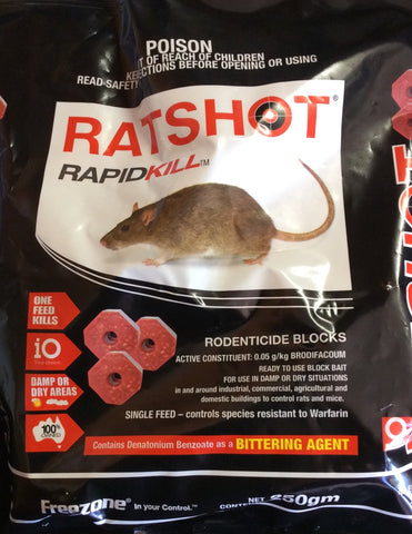 Ratshot rapid kill blocks 250g