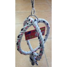 Rope twin rings toy 180mm Elit