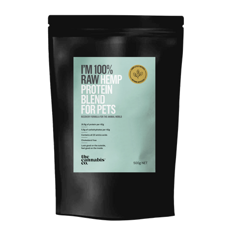 Raw hemp protein blend for pets 500g