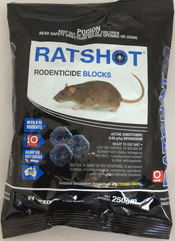 iO ratshot rodenticide blocks