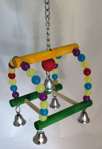 Hanging arch twin swing w/bead
