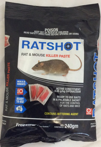 Ratshot rat & mouse killer paste  blue