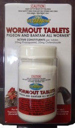 vetafarm wormout tablets 50 ta