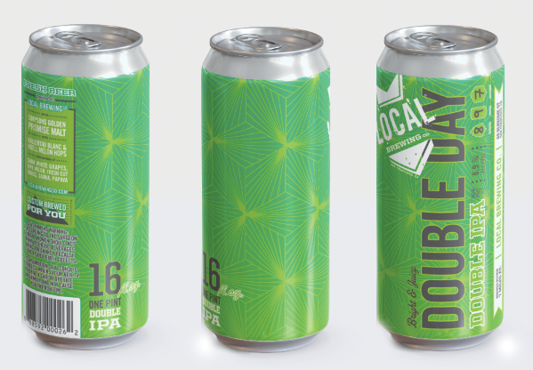 Pre-Order 16oz cans > Double Day Double Dry-Hopped Hazy Double IPA (for pickup only 4/10-4/15)