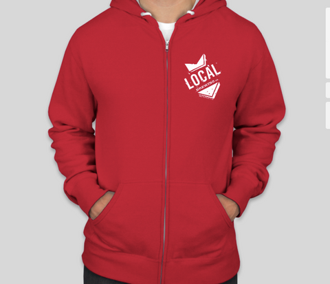 Local SoMa Zip Hoodie (Red)
