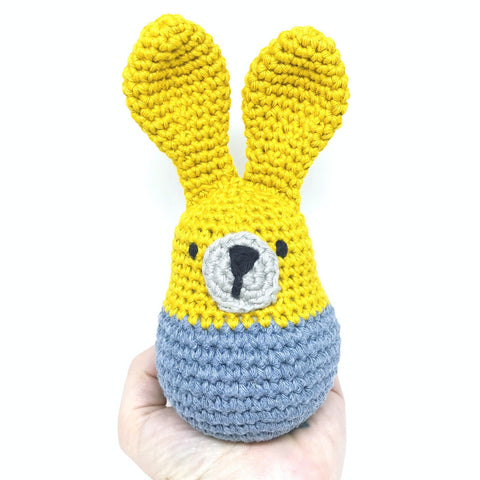 Denim Bunny Softie With Rattle