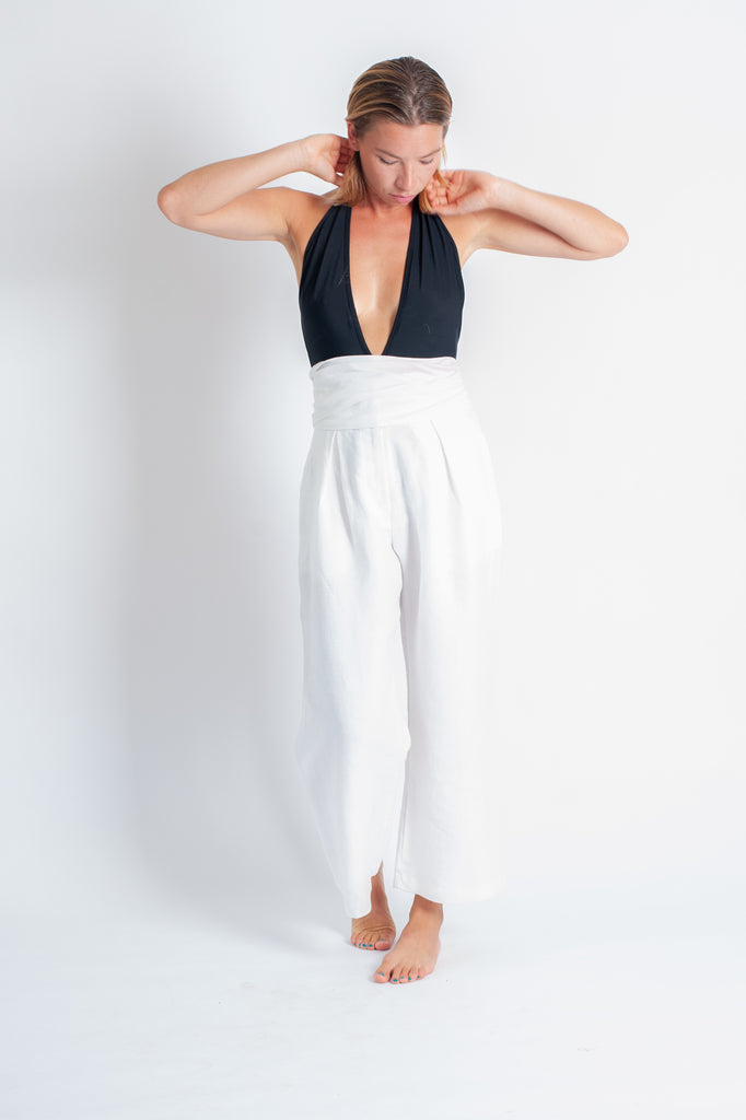 Lore Pant - White Luxe Linen