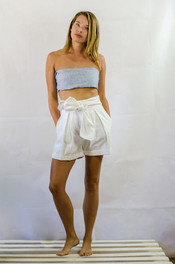 Flore High-Waist Sash Detail Short
