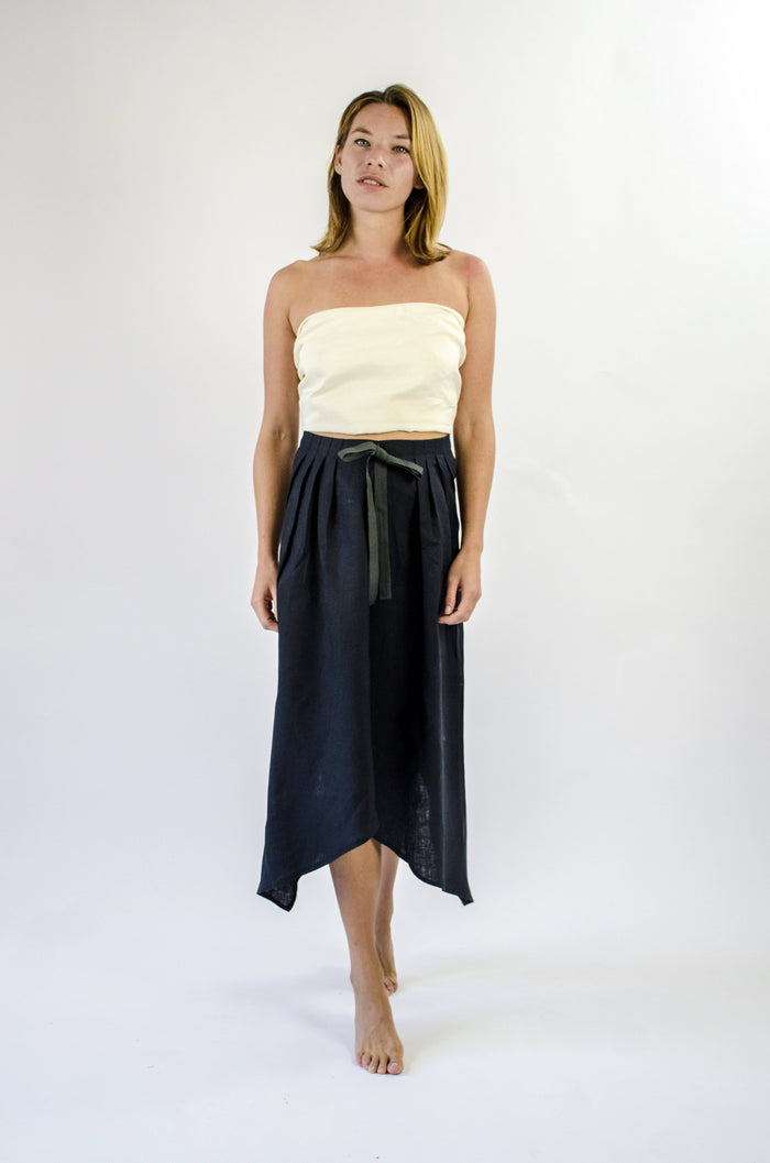 Ignes Skirt - Black Linen Mix