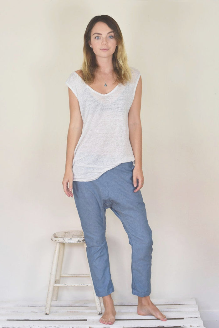 Hadley Pant - Cotton Chambray