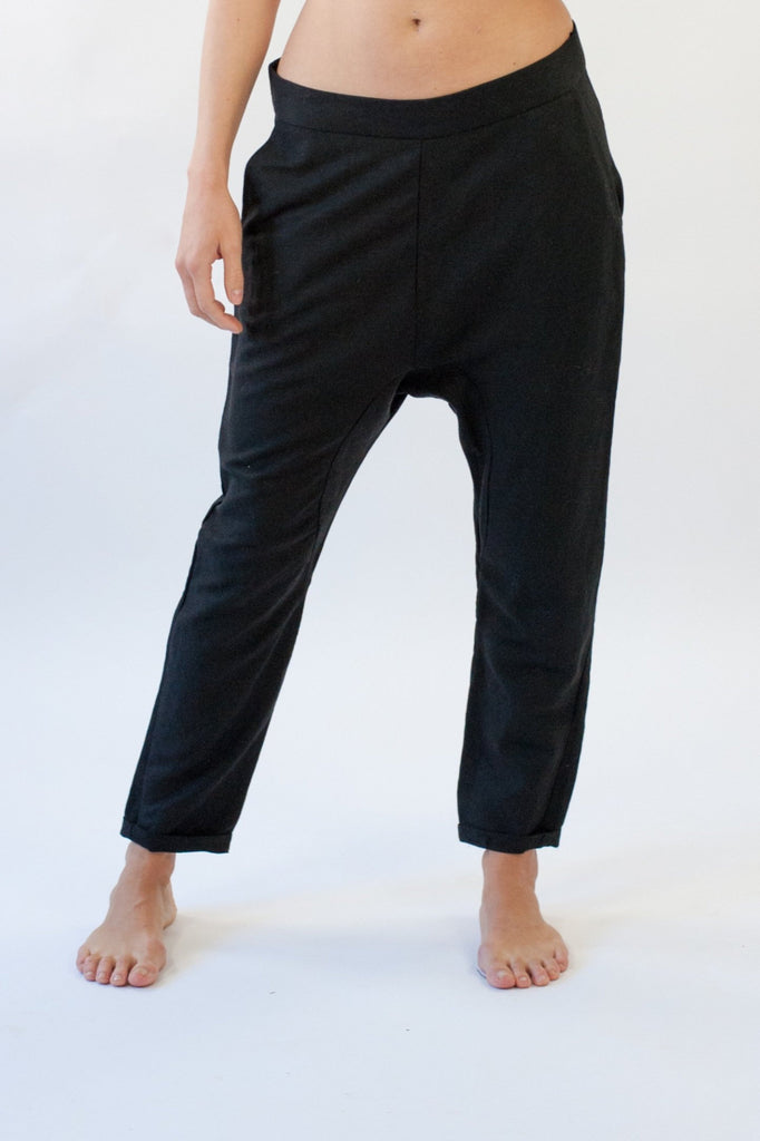 Hadley Pant in Black Linen Mix
