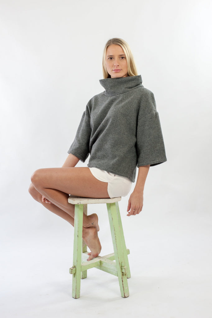 Nia Jumper - Grey Japenese Wool Mix