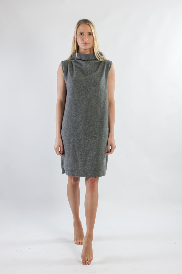 Mahli Dress - Grey Japanese Wool Mix