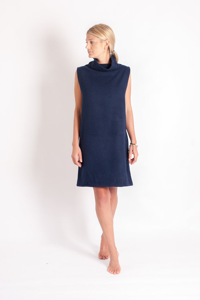Tahli Dress - Navy Japanese Wool Mix