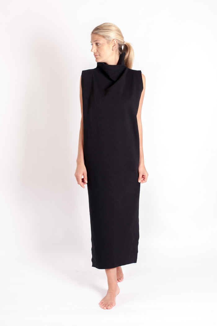 Tahli Midi Dress - Black Italian Ponte