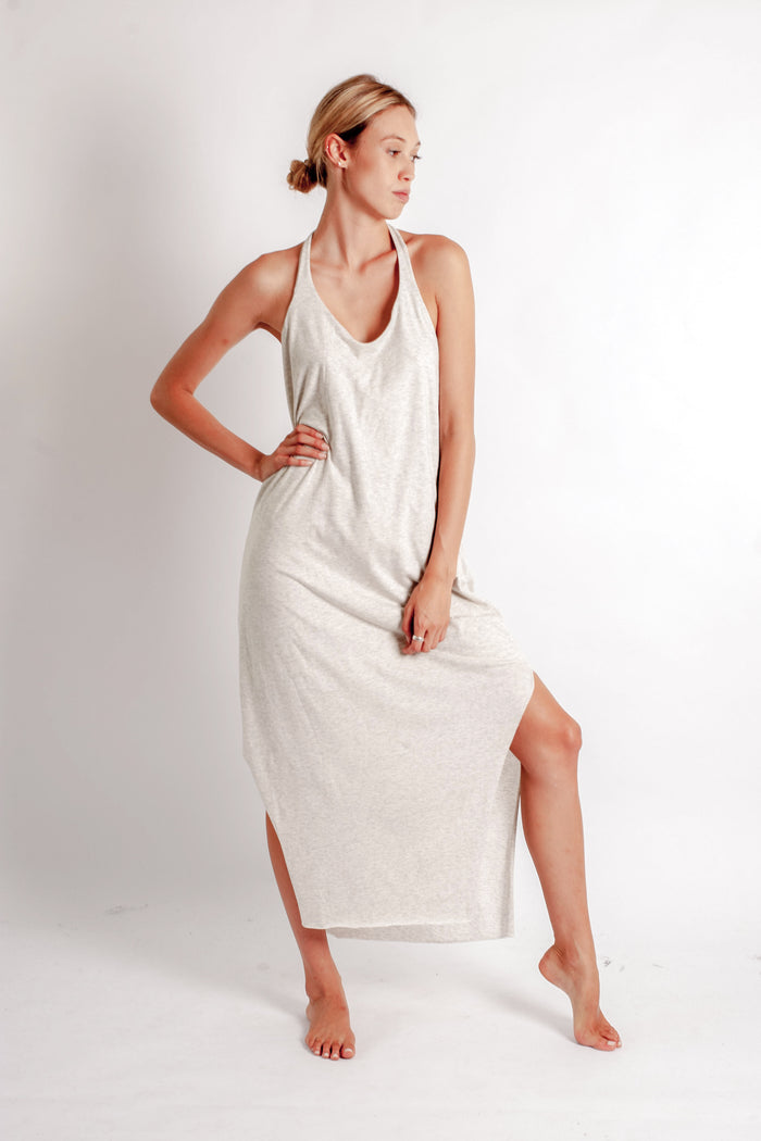 Ohla Dress - Putty Organic Cotton Jersey