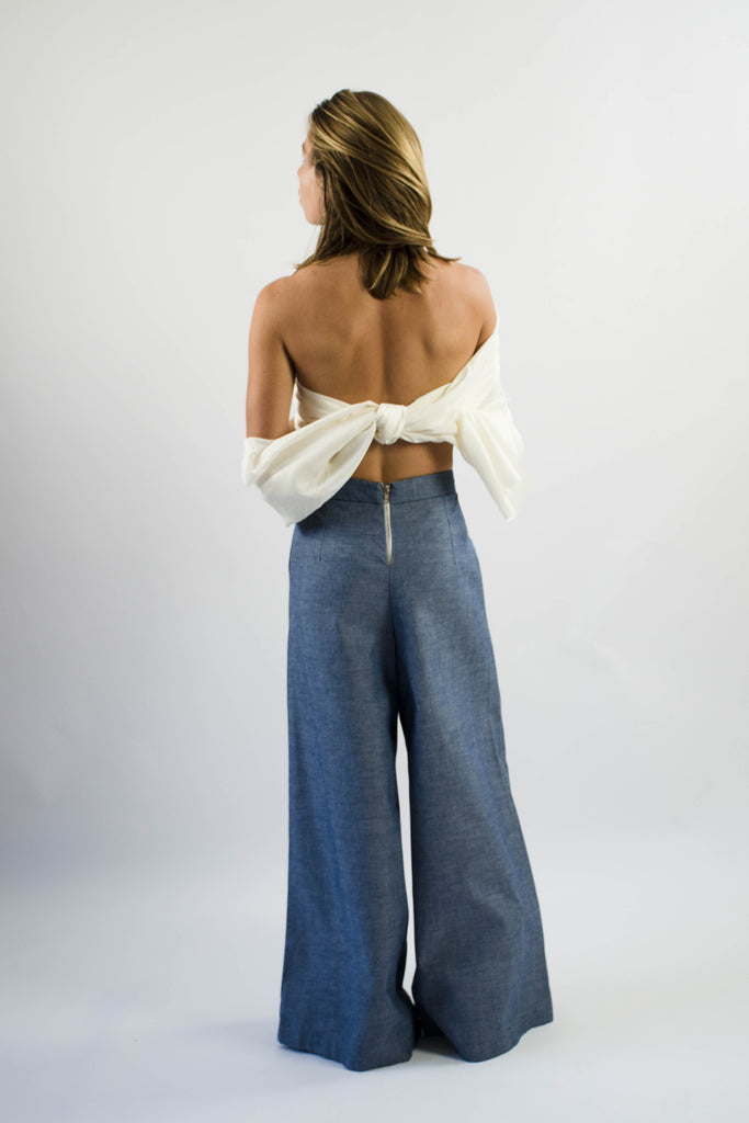 Gab Pant  in Cotton Chambray