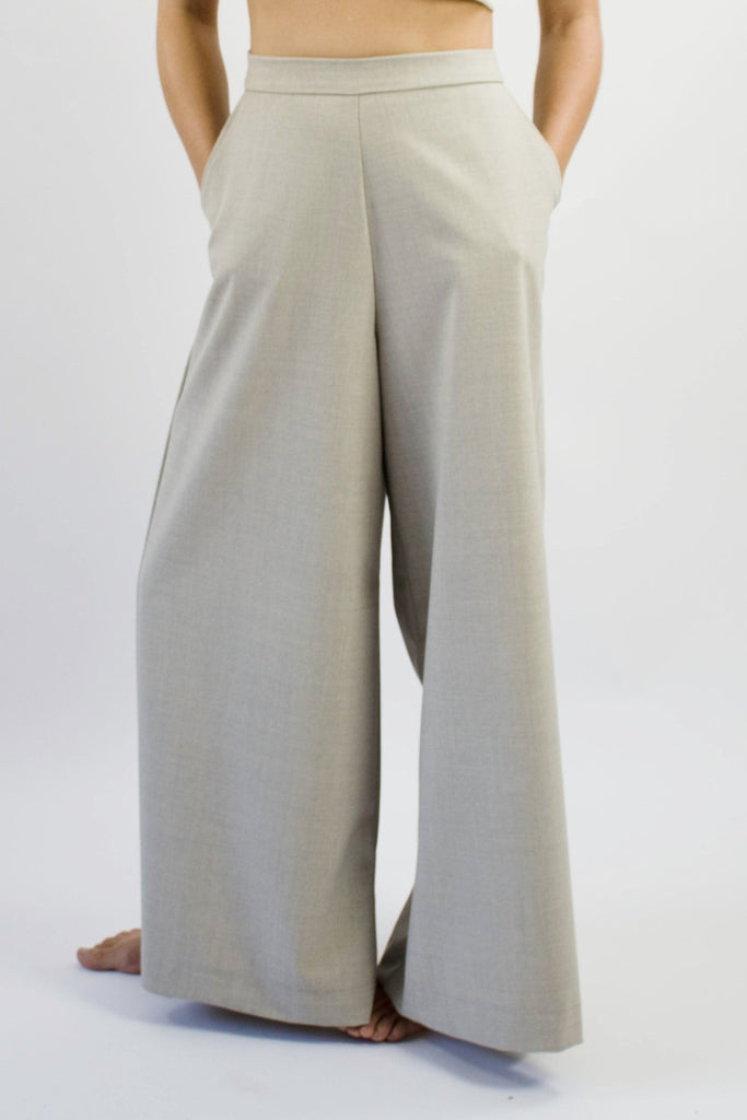 Gab Pant - Oatmeal Stretch Wool
