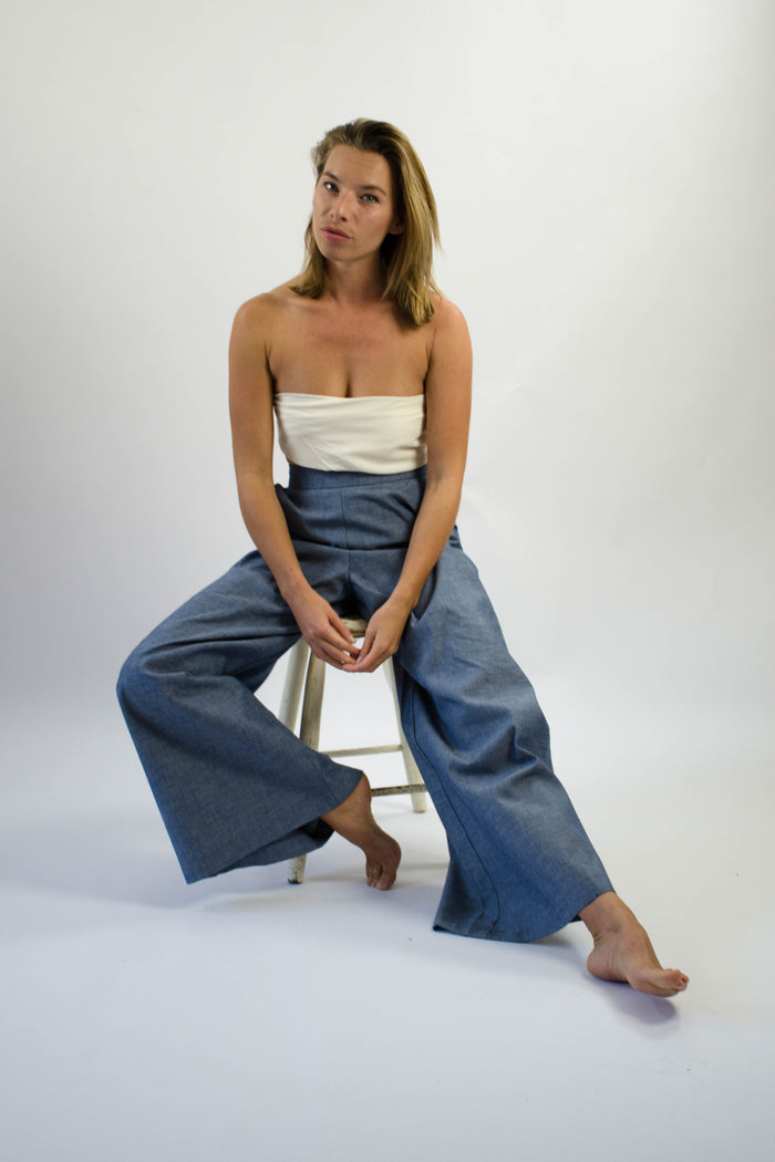 Gab Pant - Cotton Chambray